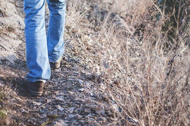 歩くスピードがゆったり