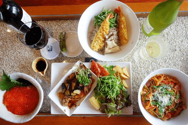 オマール海老を使ったパスタや黒トリュフのリゾットなど高級食材を使った料理が食べられます