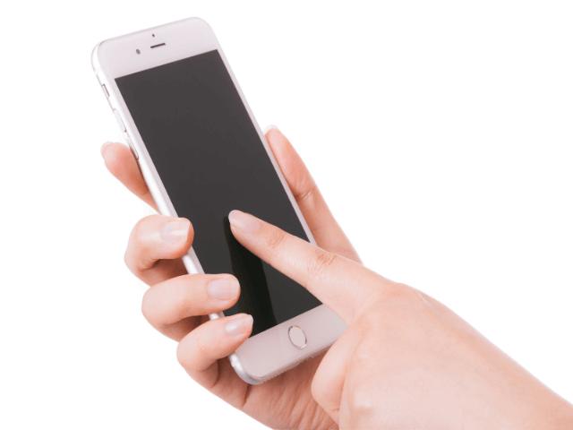 画面が暗いiPhone