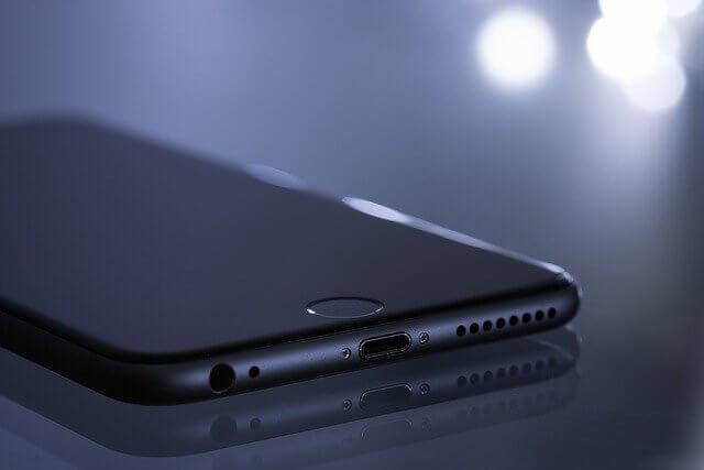 電源が入っていないiPhone8