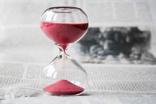 ピンクの砂時計
