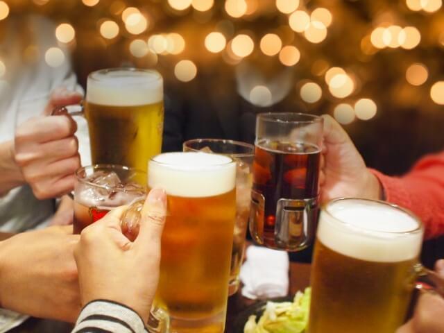 ギャラ飲みを利用して焼酎とビールで乾杯